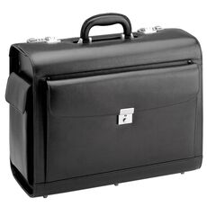 d & n Business & Travel Pilotenkoffer Leder 45 cm, schwarz