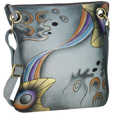 Greenland Art + Craft Henkeltasche Shopper Leder 29 cm, handbemalt