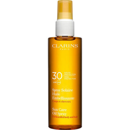 Clarins Spray Solaire Huile Embellissante Haute Protection UVA/UVB 30, 150 ml