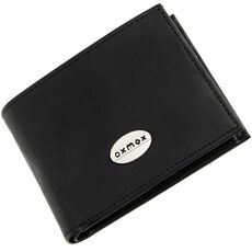 oxmox Leather Pocket-Geldbörse Leder 10,5 cm, black