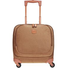 Bric's Life 4-Rollen Pilotentrolley 43 cm Laptopfach, camel