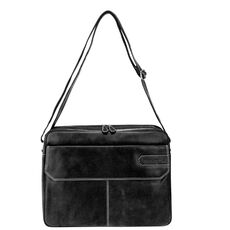 Bruno Banani Tough Messenger Leder 41 cm Laptopfach, black