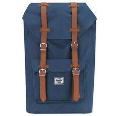 Herschel Little America Backpack Rucksack 52 cm Laptopfach, navy tan synthetic leather