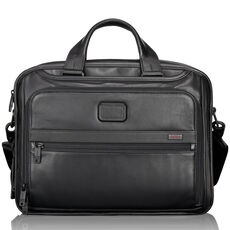 Tumi Alpha 2 Leather Aktentasche Leder 41 cm Laptopfach, black