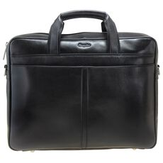 Esquire Business Aktenmappe Leder 37 cm Laptopfach, black