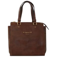 The Bridge Brera Handtasche Leder 27 cm, marrone