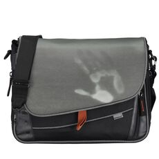 oxmox Touch-It Umhängetasche 37 cm Laptopfach, grau