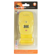 Samsonite Travel Accessories Kofferband TSA-Zahlenschloss III, yellow