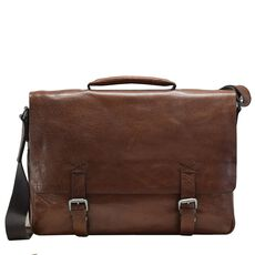 Strellson Greenford Aktentasche Leder 39 cm Laptopfach, cognac