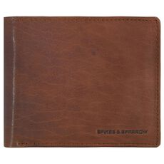 Spikes & Sparrow Bronco Wallets Geldbörse III Leder 12,5 cm, brandy
