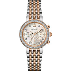 "Bulova Damen Chronograph Diamonds ""98W215"""