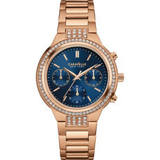 "Caravelle New York Damen Chronograph Rose & Navy ""44L181"""