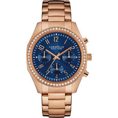 "Caravelle New York Damen Chronograph Rose & Navy ""44L196"""