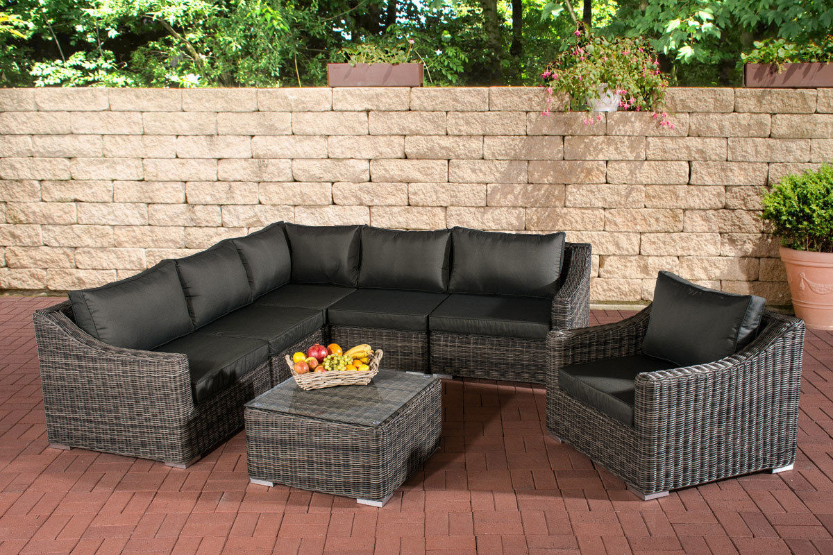 clp polyrattan gartenm bel lounge set del mar grau meliert karstadt online shop. Black Bedroom Furniture Sets. Home Design Ideas