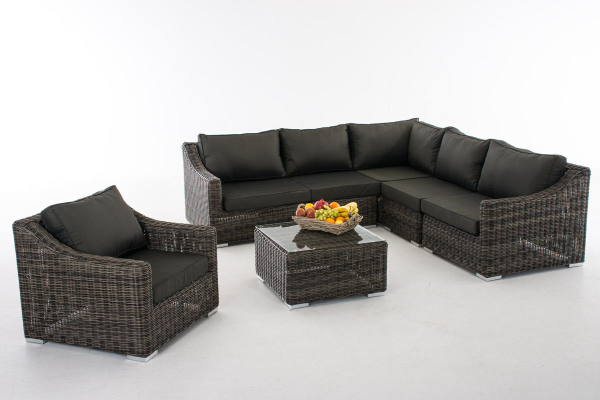 gartenmbel lounge set gartenmbel rattan set siena garden porto lift tlg polyrattan grau with. Black Bedroom Furniture Sets. Home Design Ideas