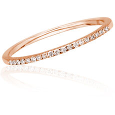 "Gold&Roses Damen Diamantring ""Half Band"" GR-230.3, 750er Roségold"