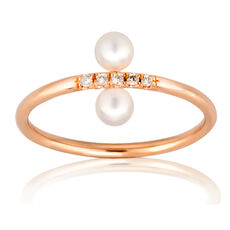 "Gold&Roses Damen Diamantring ""Spin up"" GR-106.3, 750er Roségold"